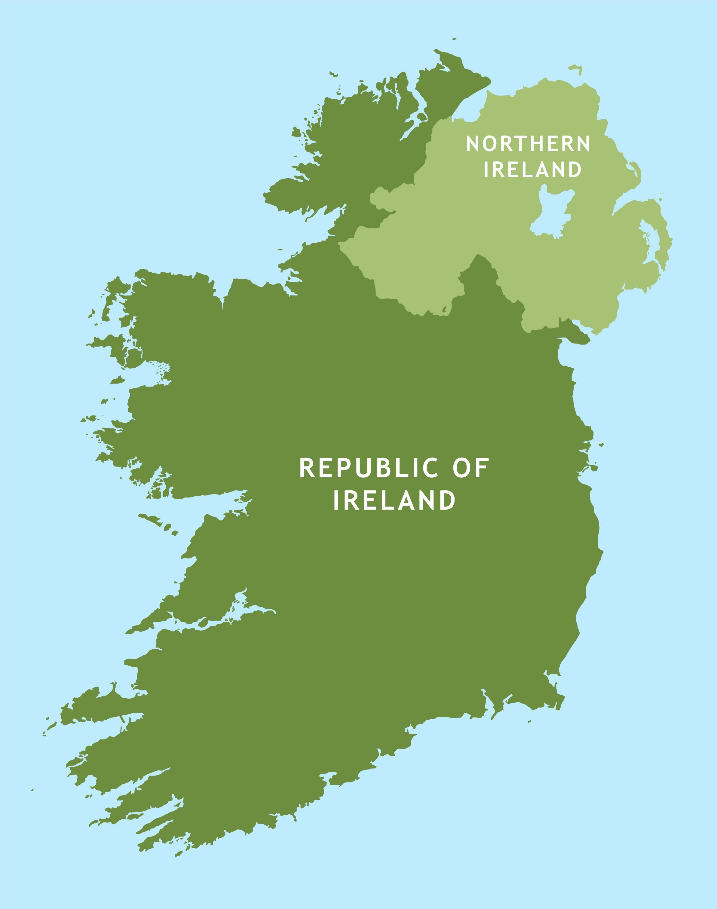 Irsko Mapa Silnicni Mapa Irska Severni Evropa Evropa