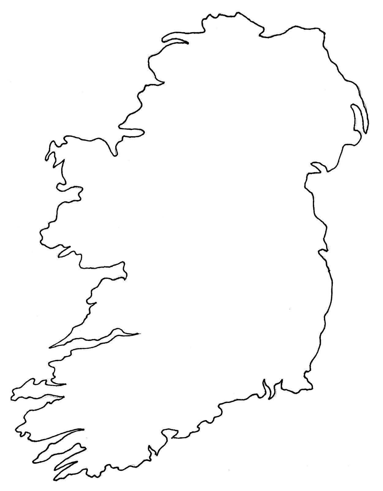 Slepa Mapa Irsko Prazdna Mapa Irska Severni Evropa Evropa