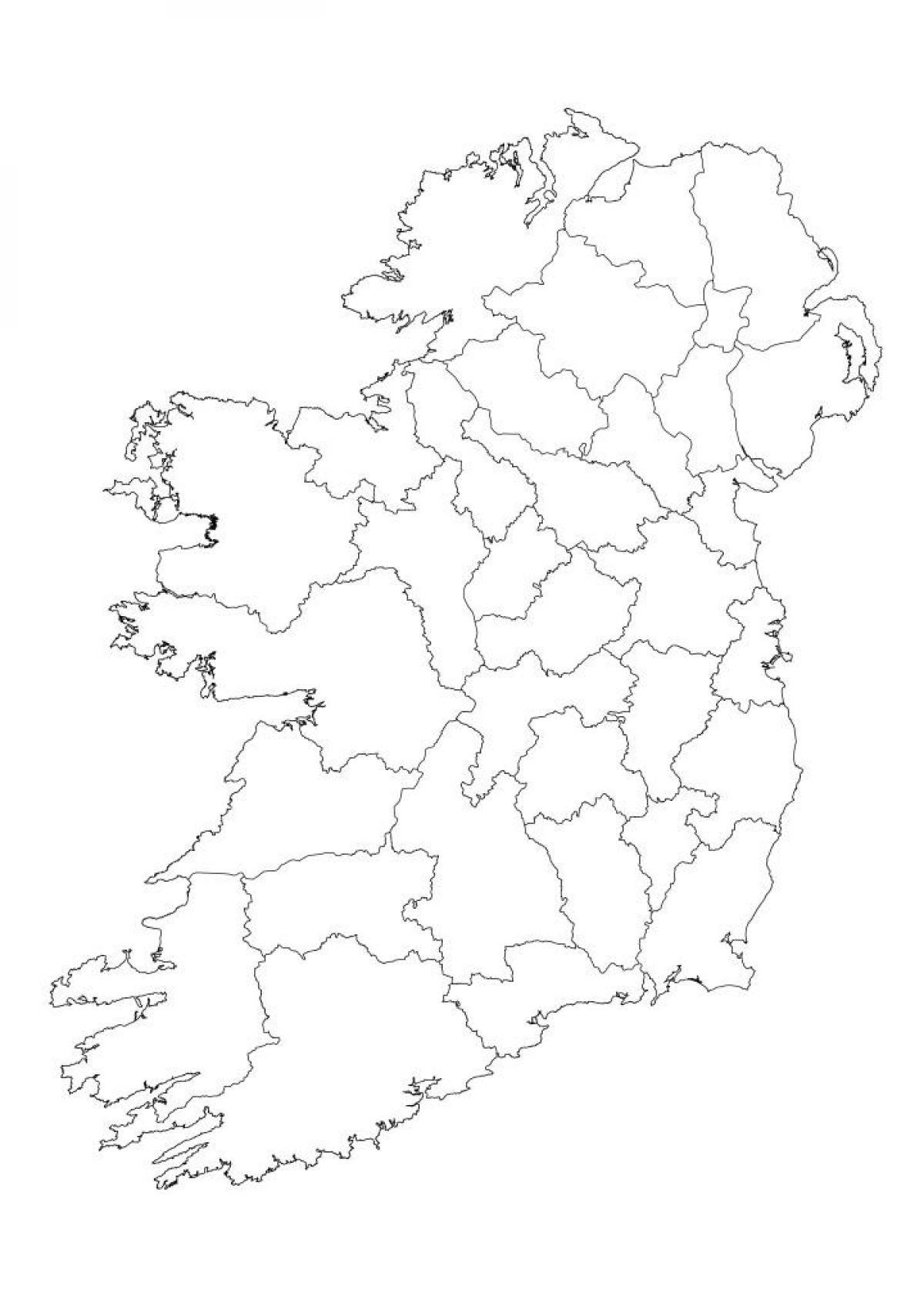 Irsko Slepa Mapa Irsko Mapa Obrys Severni Evropa Evropa