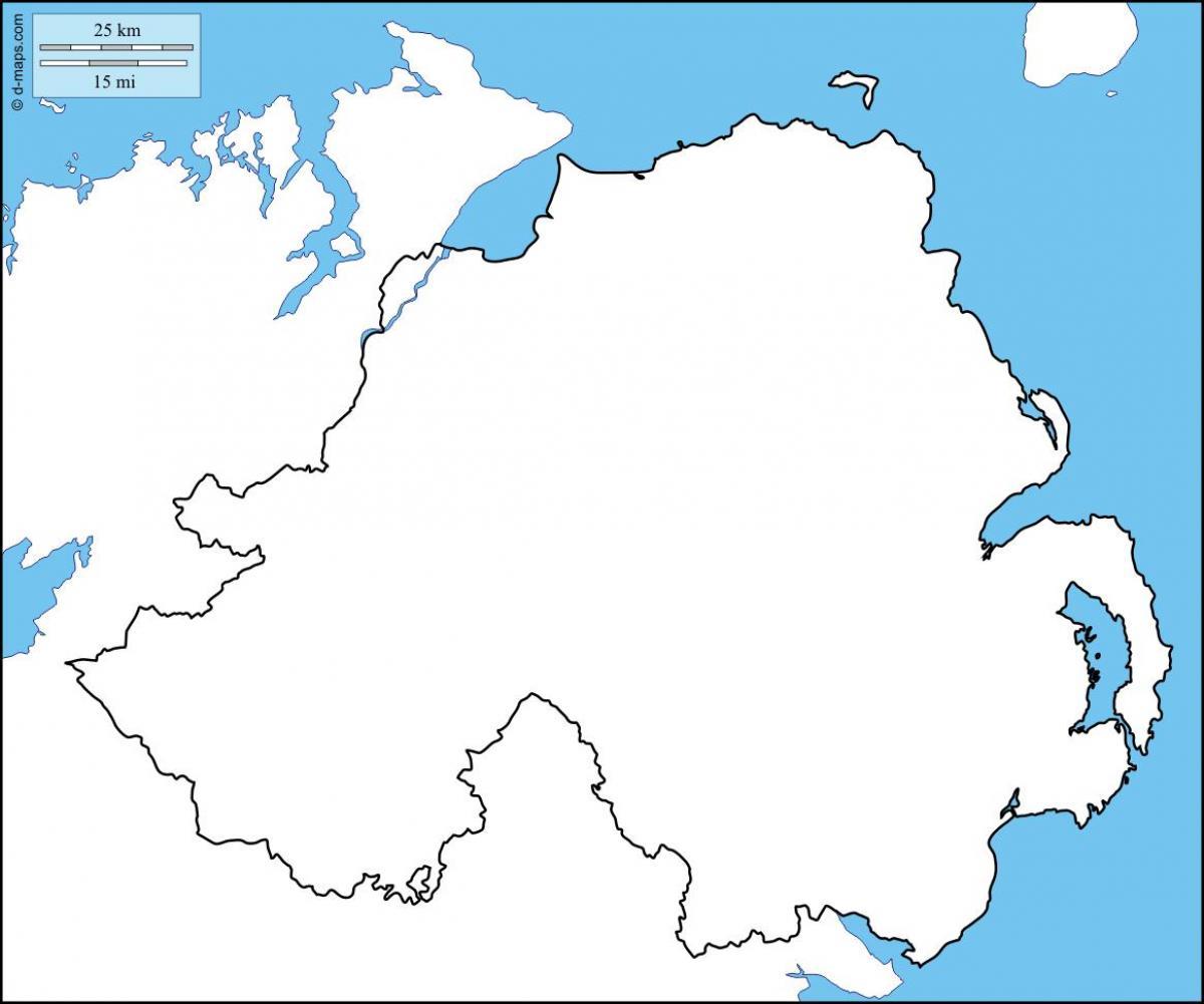 Severni Irsko Mapa Obrys Slepa Mapa Severniho Irska Severni