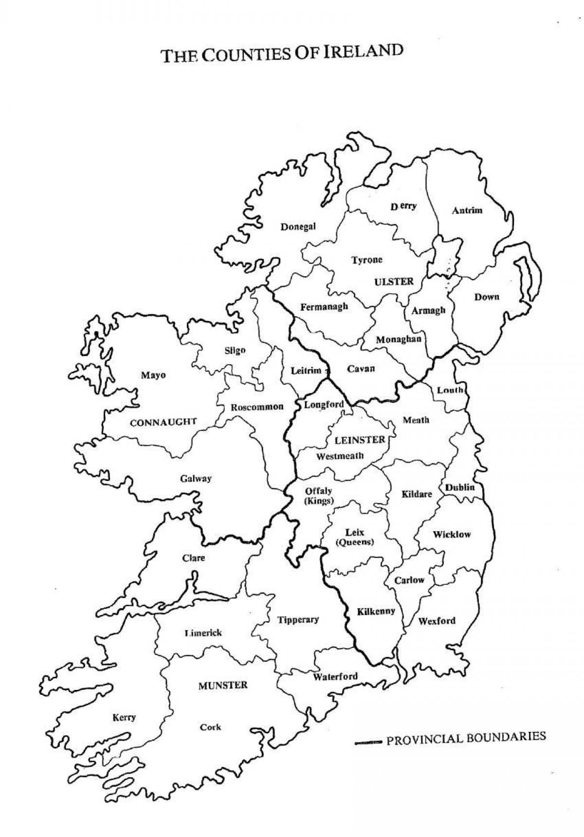 Slepa Mapa Irska S Kraje Skica Mapy Irska Severni Evropa Evropa